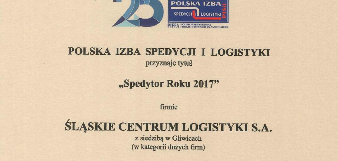 Spedytor Roku 2017!